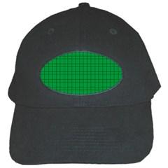 Pattern Green Background Lines Black Cap by Nexatart