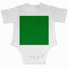 Pattern Green Background Lines Infant Creepers by Nexatart