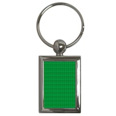 Pattern Green Background Lines Key Chains (rectangle)  by Nexatart