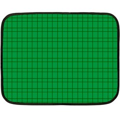 Pattern Green Background Lines Fleece Blanket (mini) by Nexatart