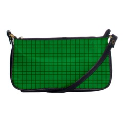 Pattern Green Background Lines Shoulder Clutch Bags by Nexatart