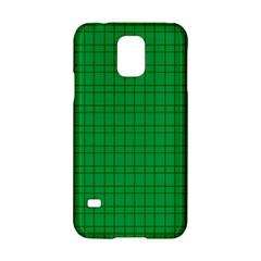 Pattern Green Background Lines Samsung Galaxy S5 Hardshell Case  by Nexatart