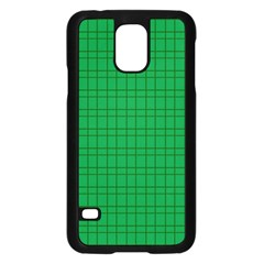 Pattern Green Background Lines Samsung Galaxy S5 Case (black) by Nexatart