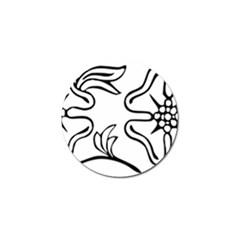 Decoration Pattern Design Flower Golf Ball Marker (10 Pack) by Nexatart