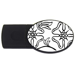 Decoration Pattern Design Flower Usb Flash Drive Oval (2 Gb) by Nexatart