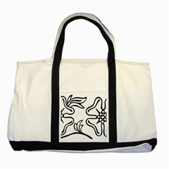 Decoration Pattern Design Flower Two Tone Tote Bag by Nexatart