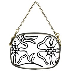 Decoration Pattern Design Flower Chain Purses (one Side)  by Nexatart