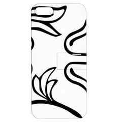 Decoration Pattern Design Flower Apple Iphone 5 Hardshell Case With Stand by Nexatart