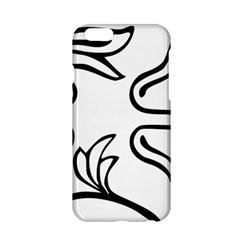 Decoration Pattern Design Flower Apple Iphone 6/6s Hardshell Case by Nexatart