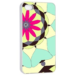 Pink Flower Apple Iphone 4/4s Seamless Case (white) by theunrulyartist