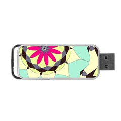 Pink Flower Portable Usb Flash (two Sides) by theunrulyartist
