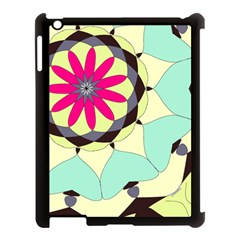 Pink Flower Apple Ipad 3/4 Case (black) by theunrulyartist