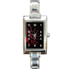 Pattern Design Abstract Background Rectangle Italian Charm Watch by Nexatart