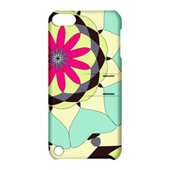 Pink Flower Apple Ipod Touch 5 Hardshell Case With Stand by theunrulyartist