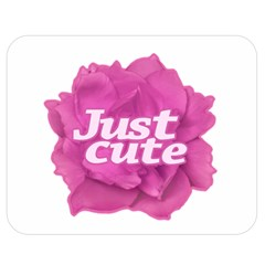 Just Cute Text Over Pink Rose Double Sided Flano Blanket (medium)  by dflcprints