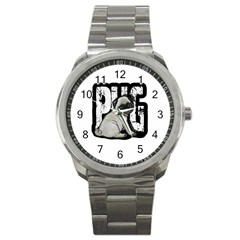 Pug Sport Metal Watch by Valentinaart