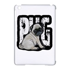 Pug Apple Ipad Mini Hardshell Case (compatible With Smart Cover) by Valentinaart