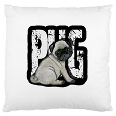 Pug Standard Flano Cushion Case (two Sides) by Valentinaart