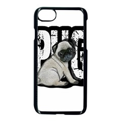 Pug Apple Iphone 7 Seamless Case (black) by Valentinaart