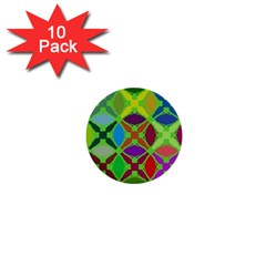 Abstract Pattern Background Design 1  Mini Buttons (10 Pack)  by Nexatart