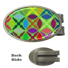 Abstract Pattern Background Design Money Clips (oval)  by Nexatart