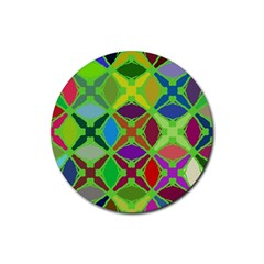 Abstract Pattern Background Design Rubber Coaster (round)  by Nexatart