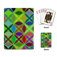 Abstract Pattern Background Design Playing Card by Nexatart