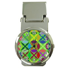 Abstract Pattern Background Design Money Clip Watches by Nexatart