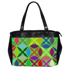 Abstract Pattern Background Design Office Handbags (2 Sides)  by Nexatart