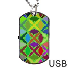 Abstract Pattern Background Design Dog Tag Usb Flash (two Sides) by Nexatart