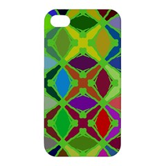 Abstract Pattern Background Design Apple Iphone 4/4s Premium Hardshell Case by Nexatart