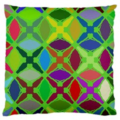 Abstract Pattern Background Design Large Cushion Case (two Sides) by Nexatart