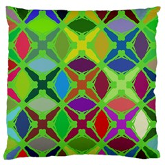 Abstract Pattern Background Design Large Flano Cushion Case (two Sides) by Nexatart