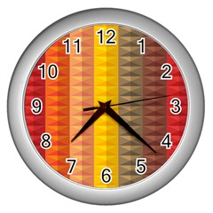 Abstract Pattern Background Wall Clocks (silver)  by Nexatart