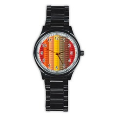 Abstract Pattern Background Stainless Steel Round Watch by Nexatart