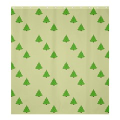 Christmas Wrapping Paper Pattern Shower Curtain 66  X 72  (large)  by Nexatart
