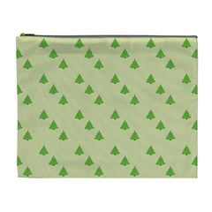Christmas Wrapping Paper Pattern Cosmetic Bag (xl) by Nexatart