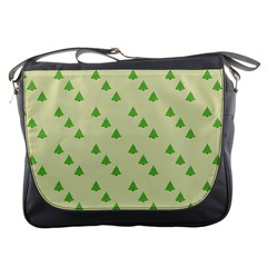 Christmas Wrapping Paper Pattern Messenger Bags