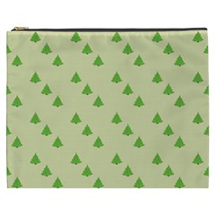 Christmas Wrapping Paper Pattern Cosmetic Bag (xxxl)  by Nexatart
