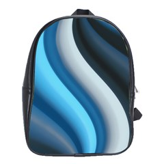 Abstract Pattern Lines Wave School Bags(large)  by Nexatart