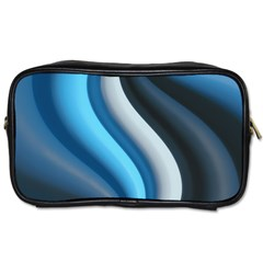 Abstract Pattern Lines Wave Toiletries Bags 2 Side by Nexatart
