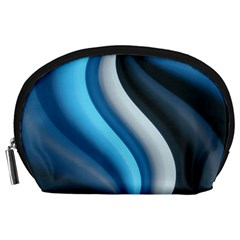 Abstract Pattern Lines Wave Accessory Pouches (large)  by Nexatart