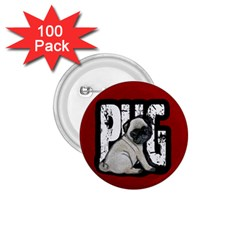 Pug 1 75  Buttons (100 Pack)  by Valentinaart