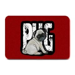 Pug Plate Mats by Valentinaart