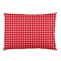 Pattern Diamonds Box Red Pillow Case (two Sides) by Nexatart