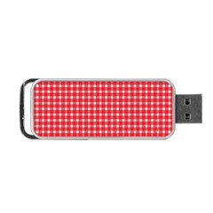 Pattern Diamonds Box Red Portable Usb Flash (two Sides) by Nexatart