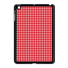 Pattern Diamonds Box Red Apple Ipad Mini Case (black) by Nexatart
