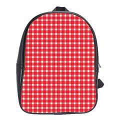 Pattern Diamonds Box Red School Bags (xl)  by Nexatart