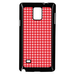 Pattern Diamonds Box Red Samsung Galaxy Note 4 Case (black) by Nexatart