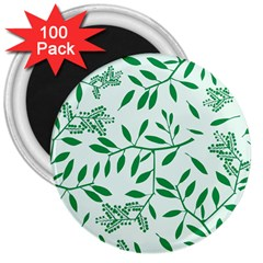Leaves Foliage Green Wallpaper 3  Magnets (100 Pack) by Nexatart